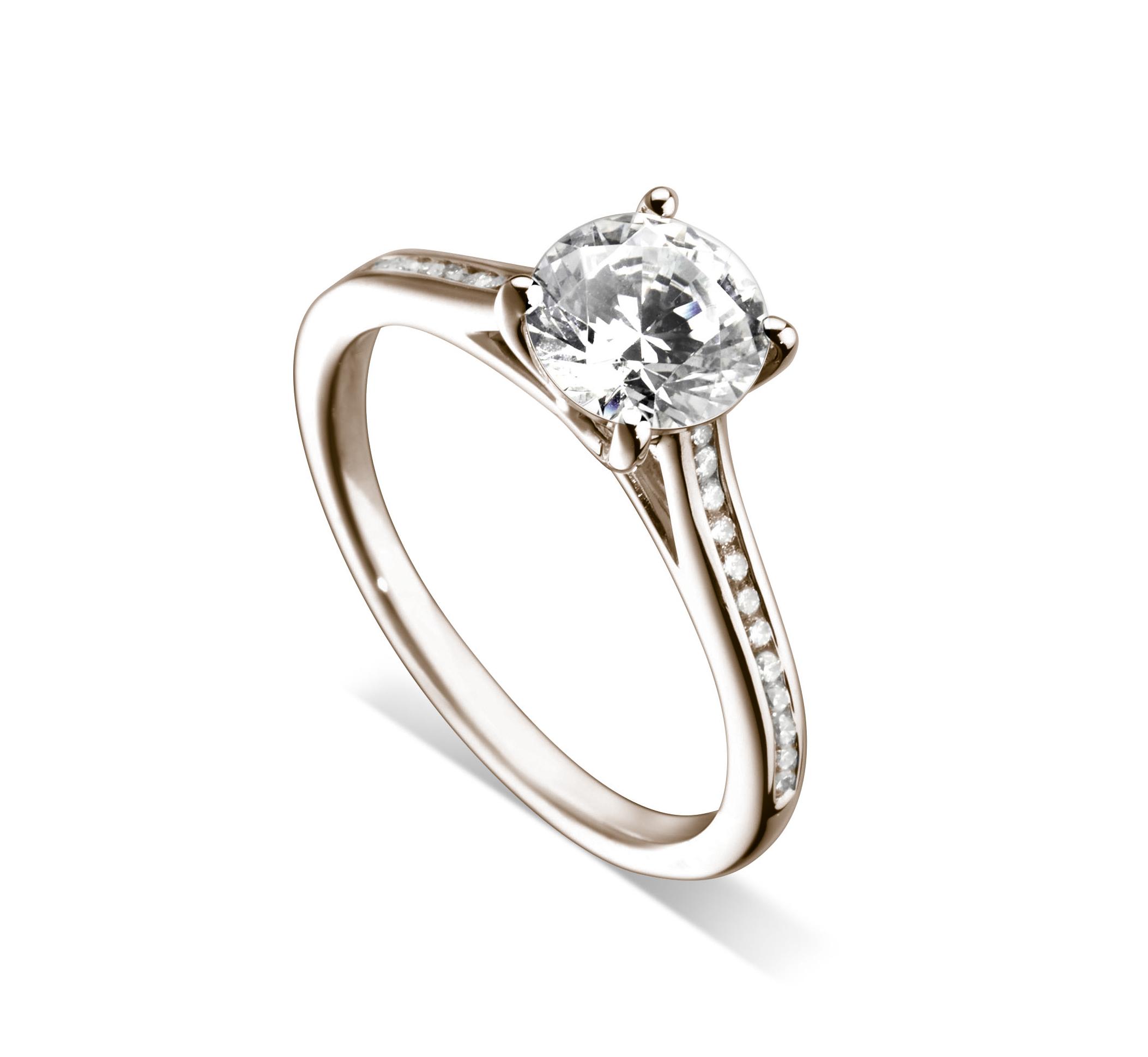 bague de fian ailles diamant or rose 18 carat hauthentic h0777r. Black Bedroom Furniture Sets. Home Design Ideas