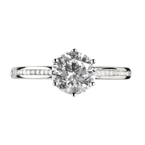 bague de fian ailles diamant platine 950 hauthentic h0767r. Black Bedroom Furniture Sets. Home Design Ideas