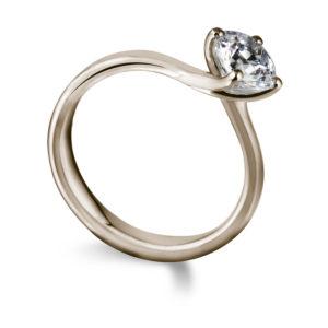 Sublime : Bague de fiançailles diamant solitaire nord-sud en or rose 18k. Production et livraison en 18 à 4 jours ouvrés.