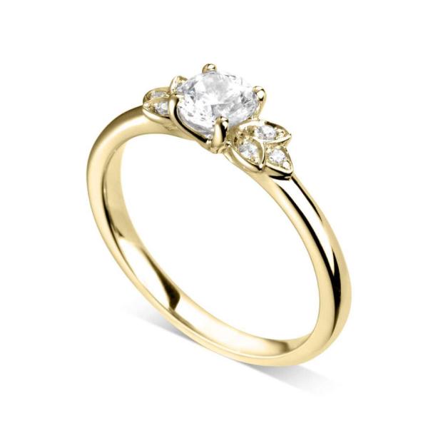 bague diamant floral