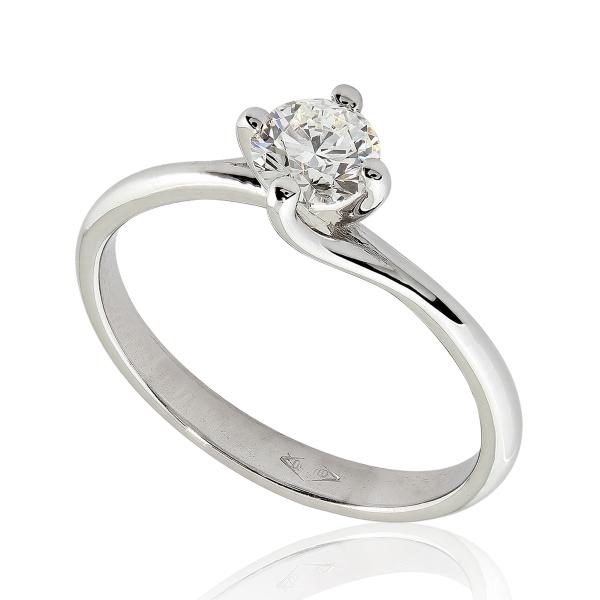 bague diamant blanc
