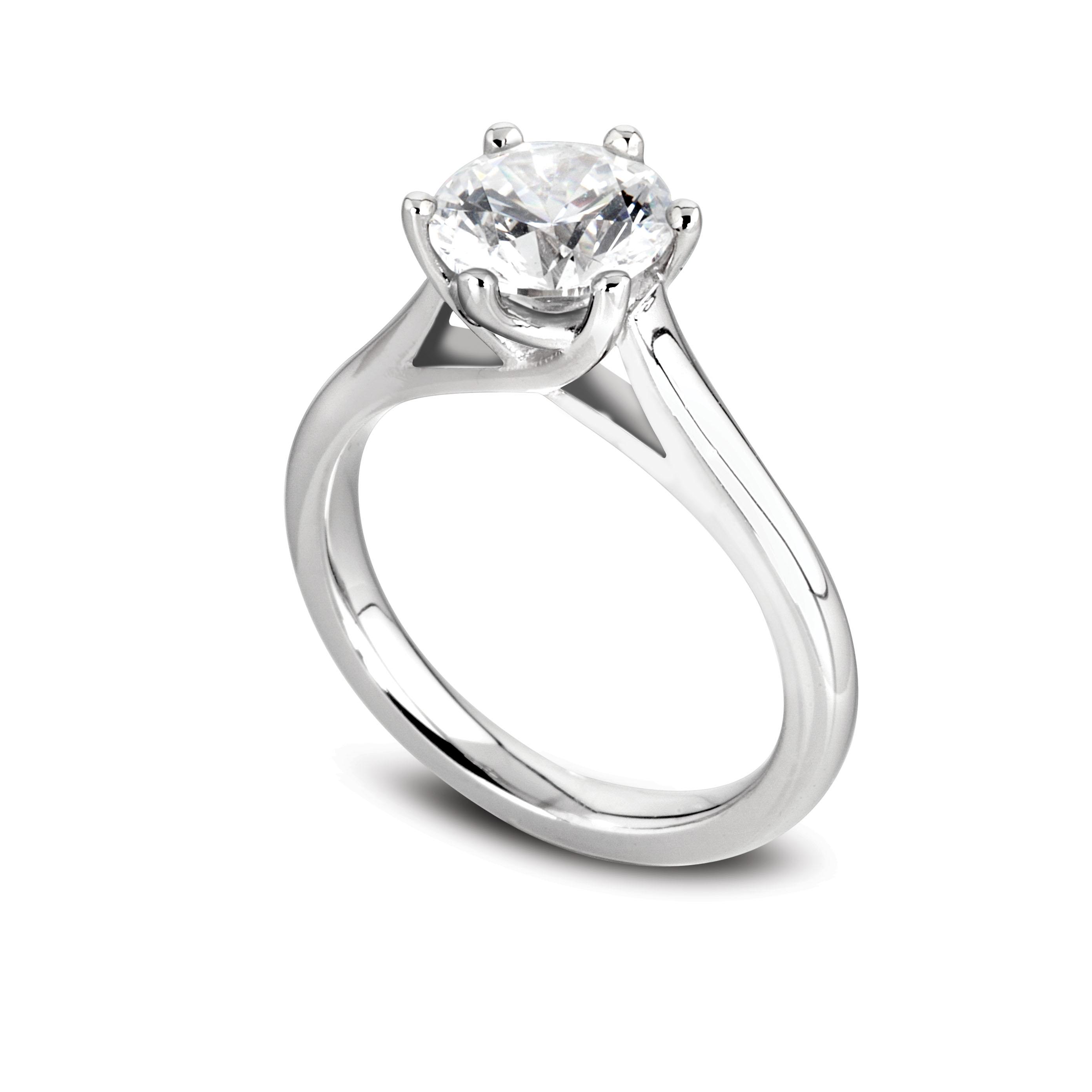 bague diamant 2 carat prix