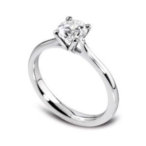 Naturelle : Solitaire diamant en platine à quatre griffes et cathédrale. Production et livraison en 7 à 4 jours ouvrés.